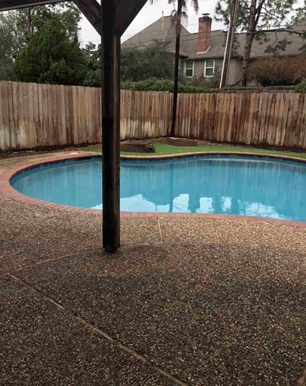 Pool Deck Repair Before